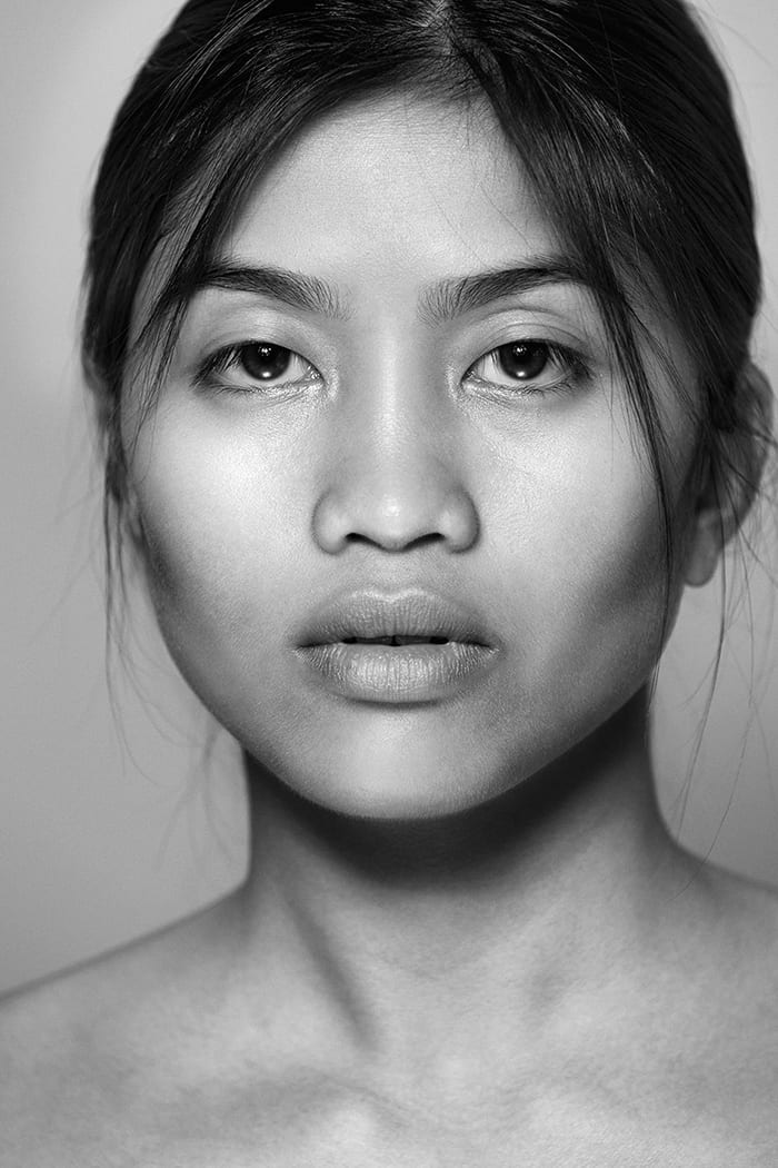 powerful black and white beauty portrait, oakland photographers