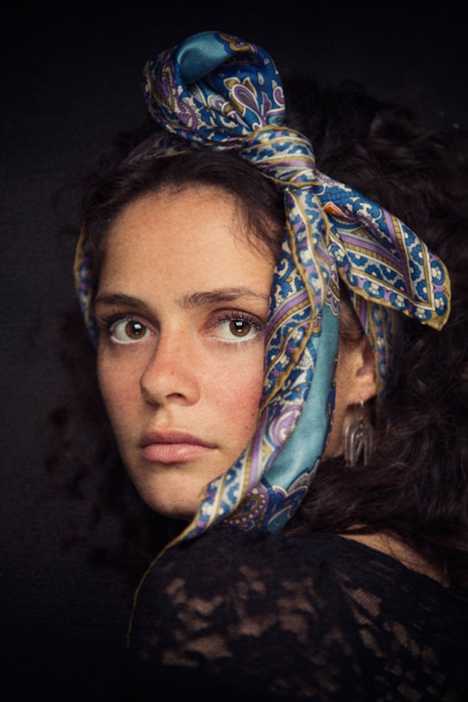 dreamy painterly beauty photographer, silk scarves