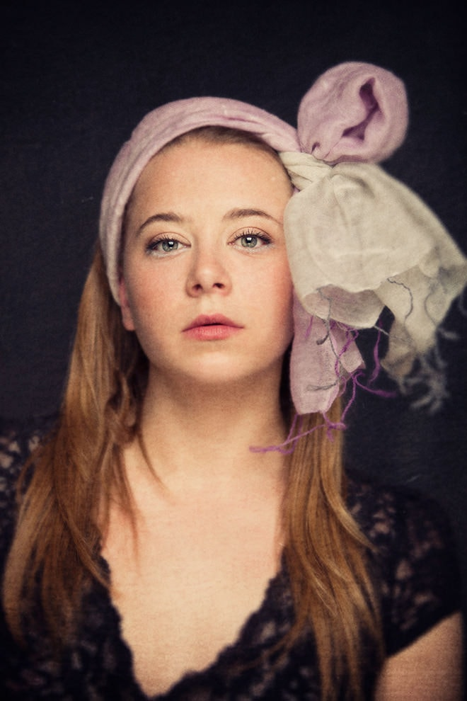 silk scarf, dreamy painterly beauty portrait photographer